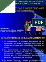 Características e Importancia de La Administración