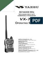 Yeasu VX 7R Manual