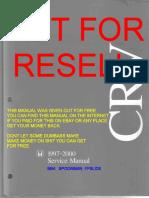 Honda CRV RD1 RD2 RD3 1997 2001 Factory Workshop Manual