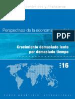 IMF - WEO 2016-Abril. Perspectivas de Economia Mundial