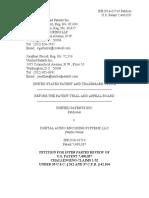 Unified Patents Inc. v. Digital Audio Encoding Sys., LLC, IPR2016-01710, Paper 1 (Sept. 2, 2016)