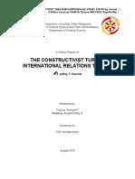 Constructivists Turn in IPE