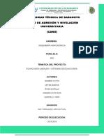 +PROYECTO DE MATEMATICA COMPLETO