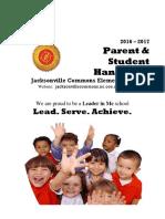JCE Parent & Student Handbook 2016-2017