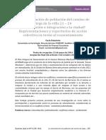 La relocalización de población del camino de sirga de la villa 21 – 24 ¿Erradicación o integración a la ciudad? Representaciones y repertorios de acción colectiva en torno al reasentamiento
