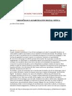 Videojuegos y Alfabetización Digital Crítica.
