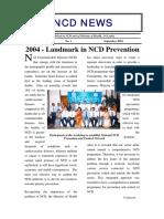 Landmark in NCD Prevention