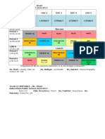 grade 8 timetable