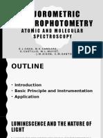 Fluorometric spectrophotometry