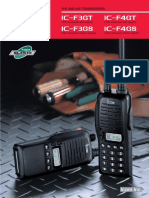ICOM IC-F3G Series Brochure
