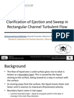 Clarification of Ejection and Sweep in Rectangular Channel Turbulent Flow