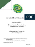 1 Man Expresion Oral y Escrita I TSU MI 2009 UT Chi 92