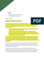 Explanations NC 22 230 Resale Certificates