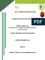 DETRMINACION DEL CONTENIDO DE MATERIA ORGANICA EN ELAGREGADO FINO