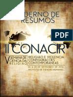 Caderno de Resumos Conacir 2016 - Versão Online Em 05-09