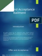 "Case Study on ""Offer & Acceptance, Bailment"""