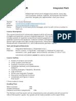 integrated 3 cp2 syllabus
