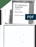 David Rock - El Radicalismo Argentino 1890-1930