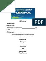 Tarea #4 Bibliografia Metodologia de La Invesigacion