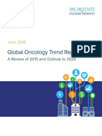 IMSH Institute Global Oncology Trend 2015 2020 Report