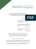 BREVES CONSIDERACIONES JURÍDICAS Y FILOSÓFICAS SOBRE LA JUSTICIA CONSTITUCIONAL EN MÉXICO AL INICIAR EL SIGLO XXI