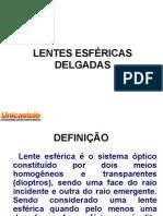 LENTES ESFÉRICAS - apresentação