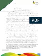 """09 05 2011 - El gobernador Javier Duarte de Ochoa, firmó como testigo de honor el """"Convenio General de Colaboración en Materia de Capacitación, Formación, Divulgación y Atención de Quejas"""" entre la CNDH y la CEDHV."""