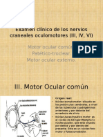 Examen Clínico de Los Nervios Craneales Oculomotores ( (1)