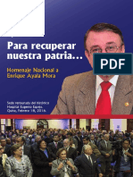 Homenaje a Enrique  Ayala Mora