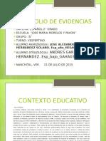 PORTAFOLIO EVIDENCIAS MORELOS 6° ESPAÑOL