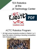 vex robotics parent meeting fall 2016