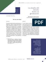 Los Desafios Del Derecho Frente a La Globalizacion