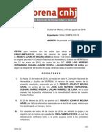 Resolución a Favor Morena Reynosa 5 Agosto 2016 CNHJ