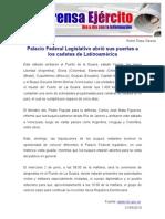 Palacio Federal Legislativo abrió sus puertas a los cadetes de Latinoamérica