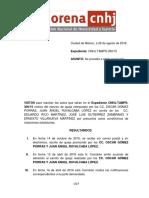 Resolución CNHJ Morena Tampico, CD. Madero. Infundados Los Agravios - 29 de Agosto de 2016