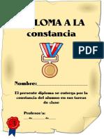 Diploma a La Constancia