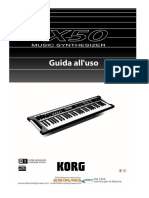 Korg X50 Manuale