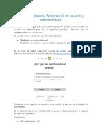 Manuel-Quitar Contraseña Windows 10 de Usuario y Administrador