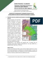 Avances en La Elaboracion de Expedientes Técnicos Para El Establecimiento de Areas de Conservacion Regional Cajamarca