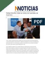 06.09.2016 ODNNoticias.com - Rafael Moreno Valle se reúne con panistas de Guerrero