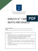 Ensayo SIMCE Sexto Básico Lenguaje y Comunicación