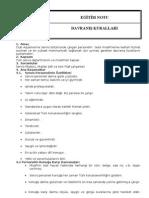Servis Personeli Davranış Kuralları EĞİTİM NOTU