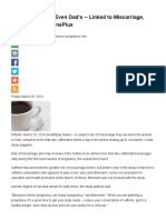 Caffeine Intake -- Even Dad's -- Linked to Miscarriage, Study Says_ MedlinePlus