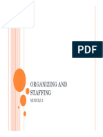 Unit 3 -Organizing and Staffing
