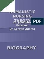 160134923 Humanistic Nursing Theory