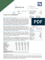 DeutscheBank CapitaLandLtdAyearofconsolidation Jan 06 2016