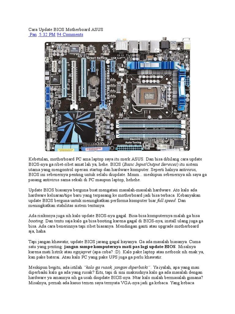 Cara Update BIOS Motherboard ASUS