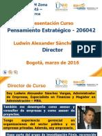 Presentacion Curso Pensamiento Estrategico 2016 2