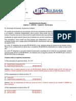 Exercícios de Fixação I - Capítulo 4 – CONTAS; Capítulo 5 - ESCRITURAÇÃO _gabarito