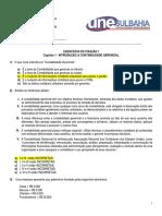 Exercícios de Fixação i - Capítulo 1 - Introdução a Cont Gerencial (Gabarito)